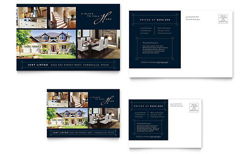 Luxury Home Real Estate Postcard Template