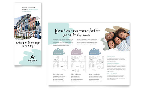 Apartment Print Design Brochure Template
