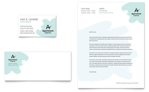 Property Management Letterhead Templates – Business Letter Heading Template