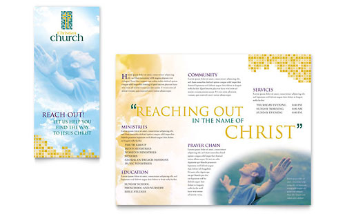 religious organizations tri fold brochure templates. Black Bedroom Furniture Sets. Home Design Ideas