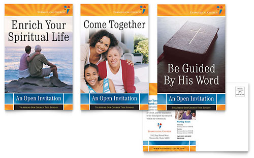 Evangelical Church Postcard Template