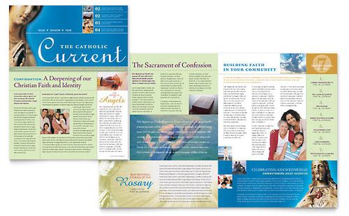 Catholic Parish and School - Newsletter Template