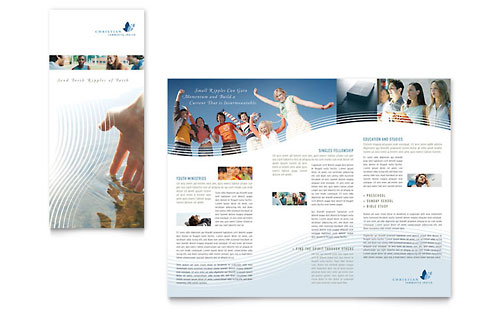 Christian Ministry Tri Fold Brochure Template
