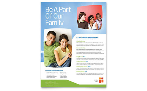 Church Youth Ministry Flyer Template
