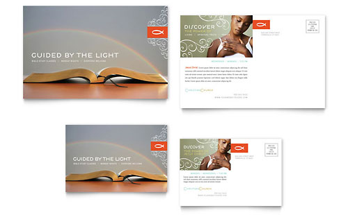 Christian Church Religious Postcard Template