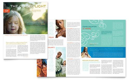 Christian Church Religious Newsletter Template