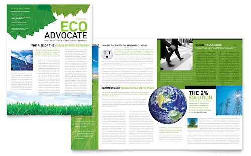 Environmental Non Profit Newsletter Template