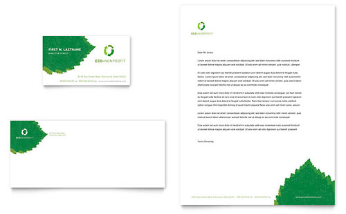 Environmental Non Profit Business Card & Letterhead Template