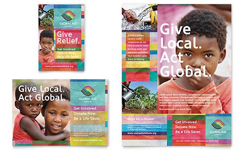 Humanitarian Aid Organization - Sample Print Ad Template