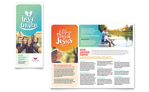 Church Tri-Fold Brochure Template