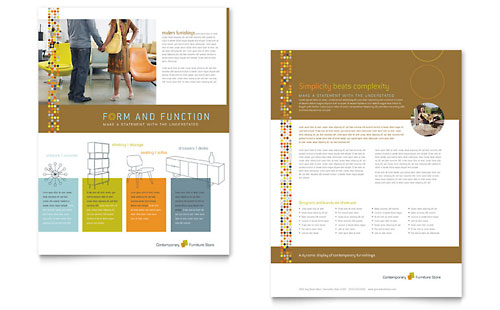 Furniture Store Datasheet Template