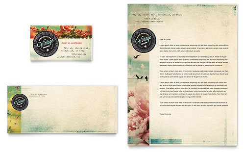 Vintage Clothing Business Card & Letterhead Template