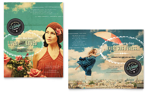 Vintage Clothing Poster Template