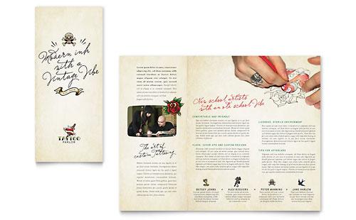 Body Art & Tattoo Artist Brochure Template