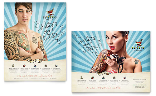 Body Art & Tattoo Artist Poster Template