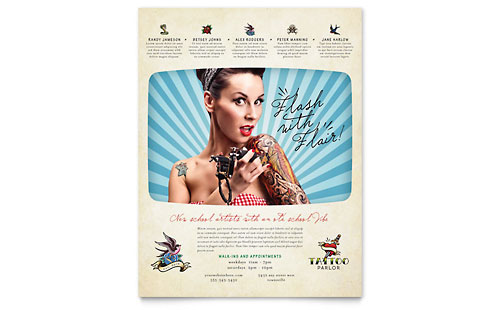 Body Art & Tattoo Artist Flyer Template