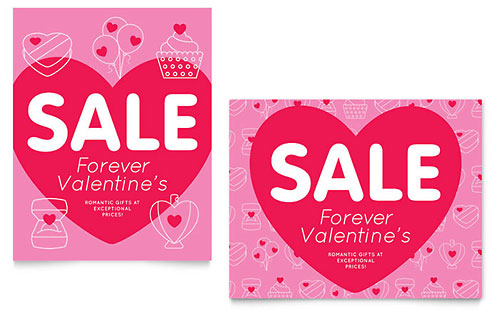 Valentine's Day - Sale Poster Template