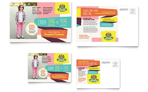 Kids Consignment Shop - Postcard Template