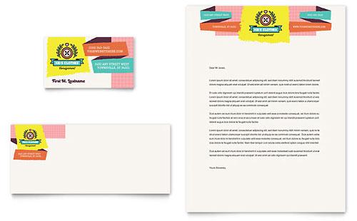 Kids Consignment Shop - Business Card & Letterhead Template