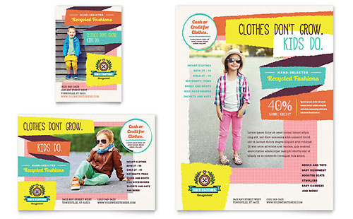 Kids Consignment Shop - Flyer & Ad Template