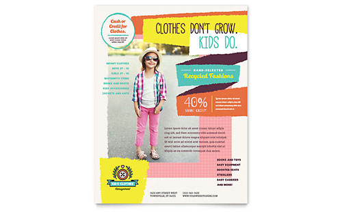 Kids Consignment Shop - Flyer Template