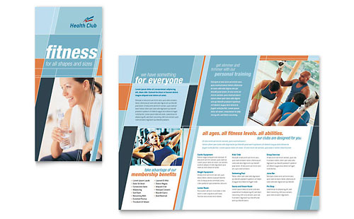 Personal training pamphlet templates sports fitness for Personal brochure templates