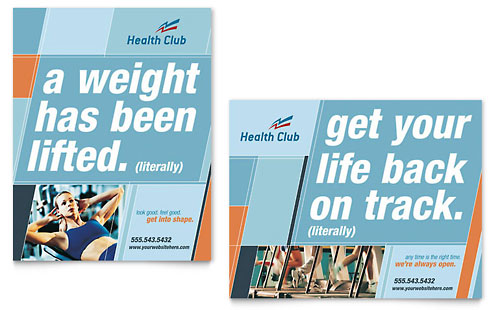 Health & Fitness Gym Poster Template