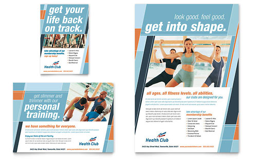 Health Club & Fitness Center | Graphic Designs & Templates