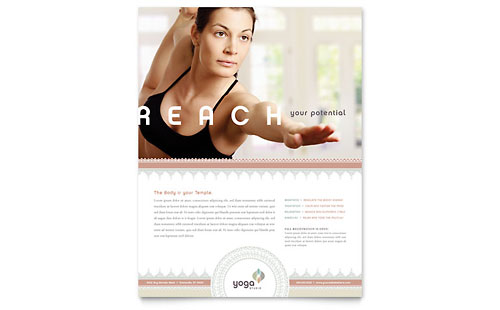Pilates & Yoga Flyer Template