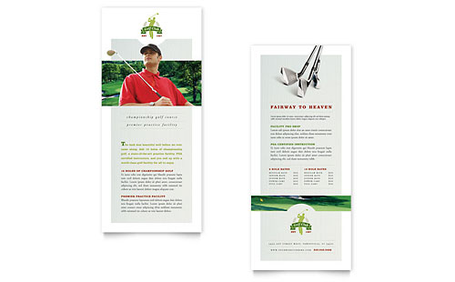 Golf Course & Instruction Rack Card Template
