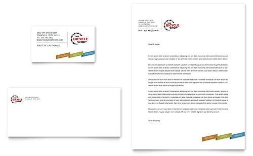 Bike Rentals & Mountain Biking Business Card & Letterhead Template