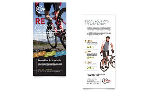 Bike Rentals & Mountain Biking Rack Card Template