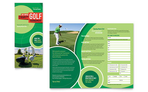 Golf Tournament Tri Fold Brochure Template