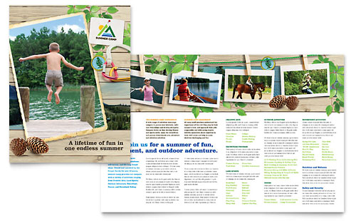 Kids Summer Camp Brochure Template