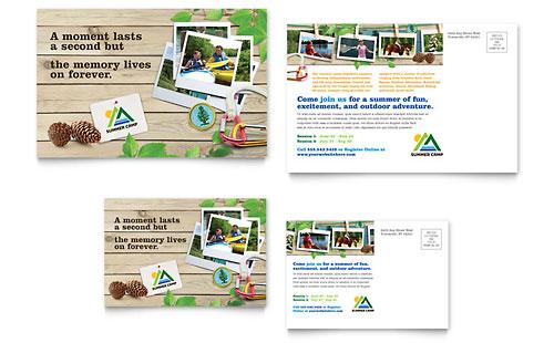 Kids Summer Camp Postcard Template