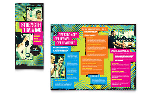 Strength Training Tri Fold Brochure Template