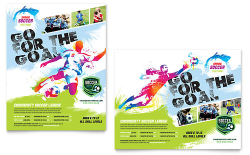 Youth Soccer Poster Template