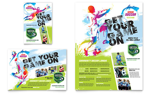 Youth Soccer Flyer & Ad Template