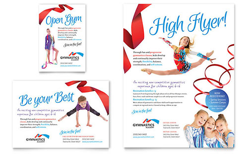 Gymnastics Academy Flyer Amp Ad Template