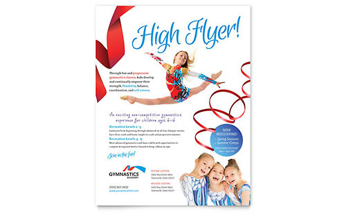 Gymnastics Academy - Flyer Template