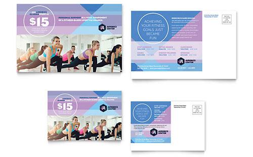 Aerobics Center Postcard Template
