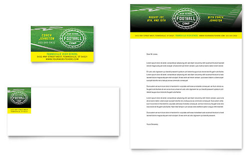 Football Training Business Card Template