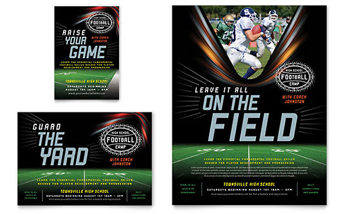 Football Training Flyer & Ad Template