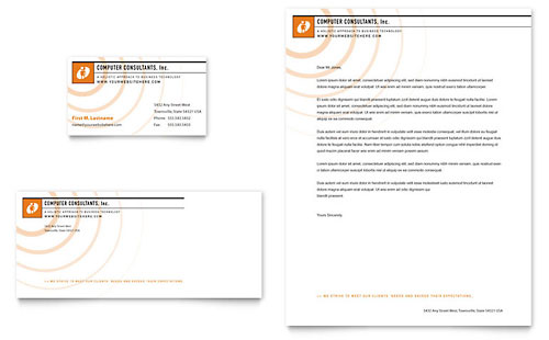 Microsoft Word Business Letterhead Template  Free Business Stationery Templates For Word