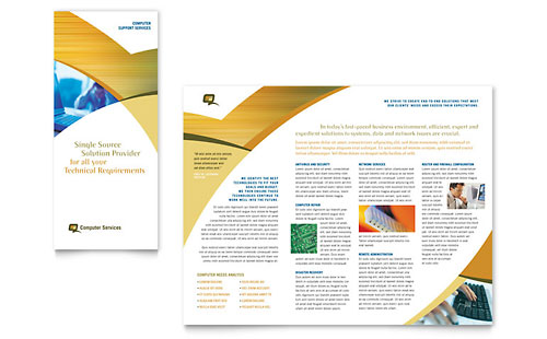 Computer Services & Consulting - Tri Fold Brochure Sample Template