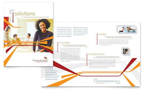 Software Developer Brochure Template