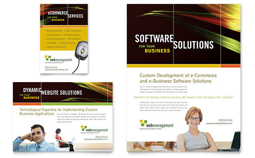 Internet Software Flyer & Ad Template