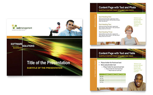 Internet Software PowerPoint Presentation Template