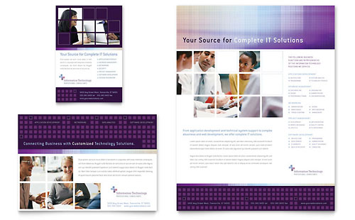 Information Technology Consultants Flyer & Ad Template