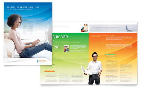 It technology marketing brochures flyers graphic designs for It services brochure template